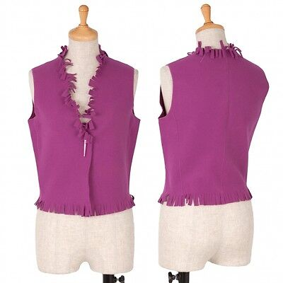 EMPORIO ARMANI Cut fringe vest Size 38(K-38199)