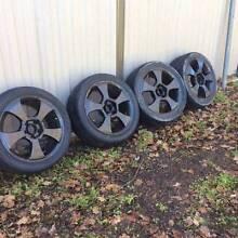 Black Rims with Dunlop Semi Slick tyres. Race, Drag, Ford, R32 Hurstville Hurstville Area Preview