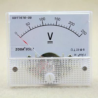 Dc 0-250v Analog Volt Voltage Panel Meter Voltmeter Gauge