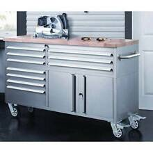 1.5M Stainless Steel Tool Chest Wood Top Workbench or BBQ Bench Rivervale Belmont Area Preview