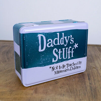 The Bright Side - Daddy's Stuff Tin - Metal Storage Tin Father's Day Gift - Father's Day Stuff