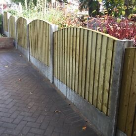 🔨🌟Heavy Duty Feather Edged Close Board Tanalised Timber Garden Fence Panels