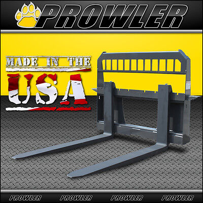 Adjustable Extreme Duty 48 Inch Skid Steer Loader Pallet Forks And Frame