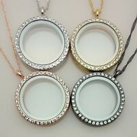 Floating glass memory lockets