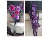 Next Artificial Flowers -Pink, Lilac & Purple Flower Arrangement