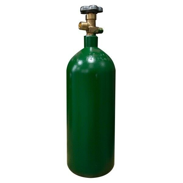 Oxygen Cylinder (O2 Tank) 20 cu ft - Oxygen Tank - Acetylene- CGA 540 Valve