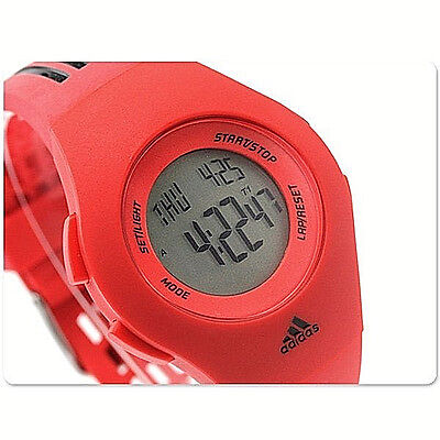 NWT Adidas Unisex Watch MINI Performance FURANO Red Resin Digital Runner ADP6056