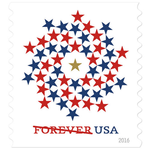 USPS New Patriotic Spiral Booklet of 10