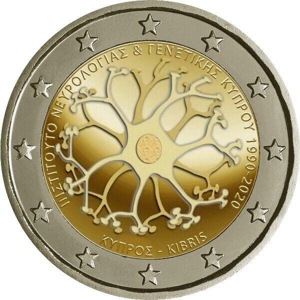 2 Euro Gedenkmünze Zypern 2020 - 30 Jahre Institut der Neurologie und Genetik