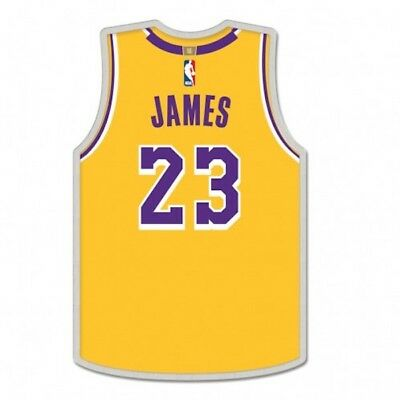 Lebron James Lapel Pin Jersey # 23 Los Angeles Lakers NBA Hat Cap ()