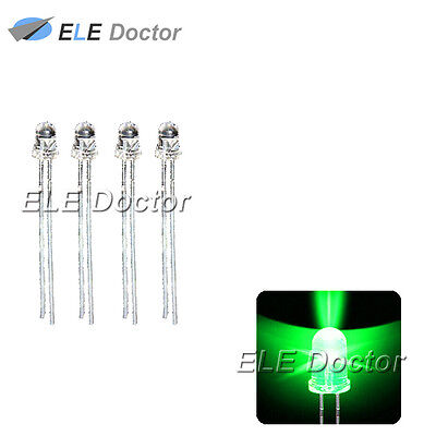 500pcs 3mm Water Clear Green Light Single Self Flash 1.5hz Blink Led Diodes
