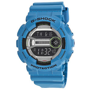 Casio G Shock Digital Dial Teal Resin Mens Watch GD110-2CR