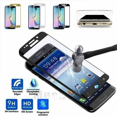 For Samsung Galaxy S6 7Edge S8 +Full Cover Tempered Glass Screen Protector 3D