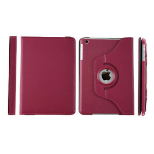 Red Rose PU Leather 360 Rotating Case Cover for Ipad Mini 1 2 3