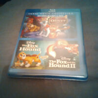 NEW Oliver and Company, Fox and Hound I and II - blu-ray + DVD