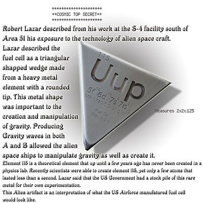 Element 115 Fuel Cell From Area 51 Bob Lazar Replica Prop