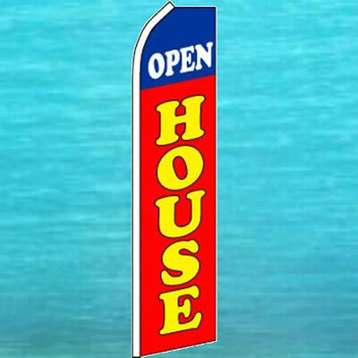 Open House Flutter Flag Tall Real Estate Advertising Feather Swooper Banner Flag