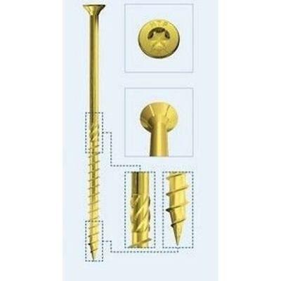 Tornillos Estructural para Madera Ø 4x50 Mm. Pack 200 Pz Holz Technic