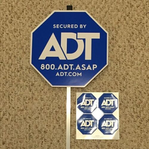NEW ADT SECURTY YARD SIGN AND 4 FREE STICKERS