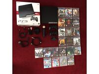 PS3 Slim 160 GB, 2 Controllers, Czatpad, 1 Move Motion, Eye Camera, Cables