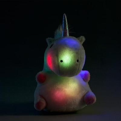 Smoko Unicorn LED Multicolor Cute Kawaii Plush Light Up Color Changing Pillow