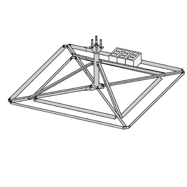 ROHN 25GBRM Non Pen Penetrating Roof Mount Base for ROHN 25G Tower. Buy it now for 1777.60