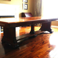 Conference / Dining Table in Walnut - 4 feet x 10 feet