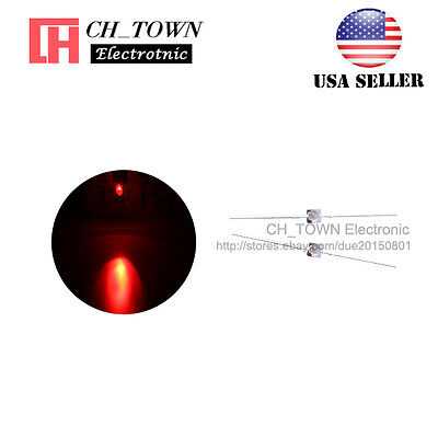 50pcs 1.5mm LED Diodes Transparent Water Clear Red Light Mini Lamp High Quality