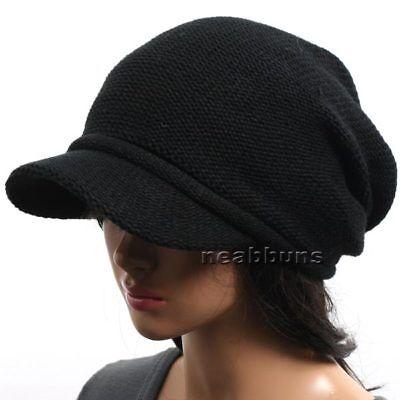BRIM BEANIE VISOR chic unisex Hats knit fall Cap men womens cadet Dad cap 1035 - Womens Visor Knit Hat