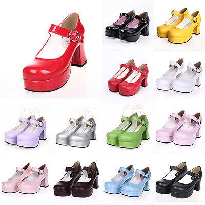 ove Live Schuhe Shoe Pumps High Heels Plateau Cosplay Kostüm (Kostüm Heels)