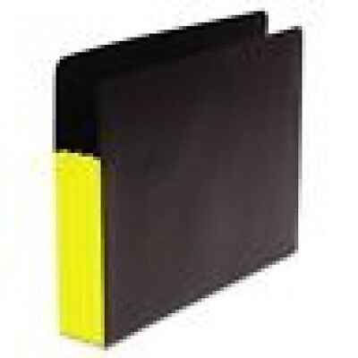Sj Paper Fusion File Clutch Pocket 3 12 Expansion Letter Size Yellow 25 Count