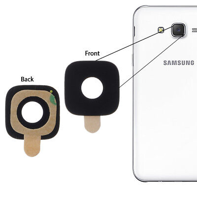 For Samsung Galaxy J7 2015 Rear Back Camera Glass Lens Cover + Adhesive SM J700F
