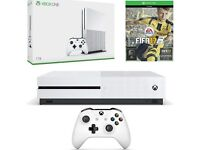 Xbox one s 1tb with Fifa 17, battlefield 4 14 day Xbox live voucher