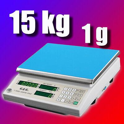 G&G TJ-A 15kg/1g Präzisionswaage Zählwaage Digital-waage
