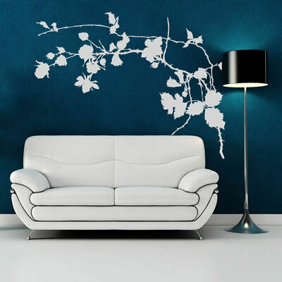 I113 Wall Decal Sticker branch tree leaves flowers ornament pattern plant