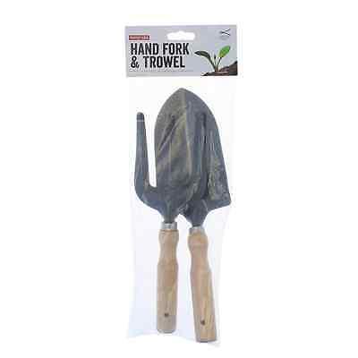 Neverbend Gardeners Stainless Steel Hand Tool Trowel & Fork Gift Set Weed Fork