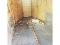 Rubber matting for rice horse box trailer
