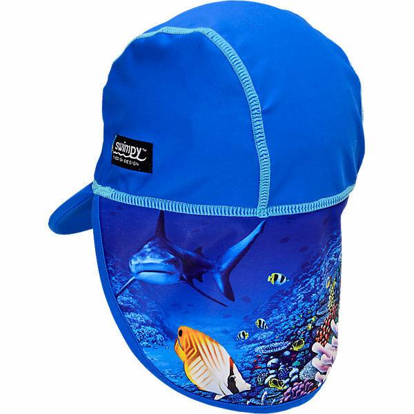 Swimpy Schirmmütze Kappe Bademütze mit Nackenschutz Gr.2-4 J Neu UV Schutz 50+