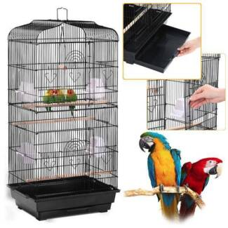 Pet Bird Cage Parrot Canary   (Wheels-Without)