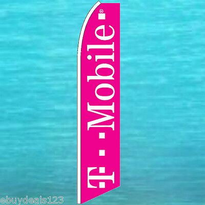 T Mobile Flutter Flag Tmobile Cell Phone Advertising Sign Feather Swooper Banner