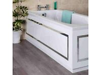 Horizontal Stripe Bath Side Panel White 1700mm... brand new