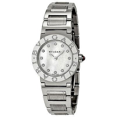Bvlgari Bvlgari Mother of Pearl Diamond Dial Stainless Steel Ladies Watch 101886