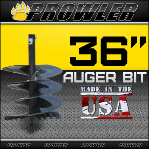 "36"" Auger Bit with Round Collar For Skid Steer Loaders 4"
