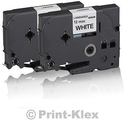 2x Schreibband - Schreibbänder für Brother P-Touch 1010 1080 TZE-231 Tape Weiss