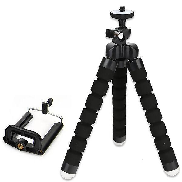 Tripod Mount universal Mini flexible Stand + Free Holder For Smart Phone New