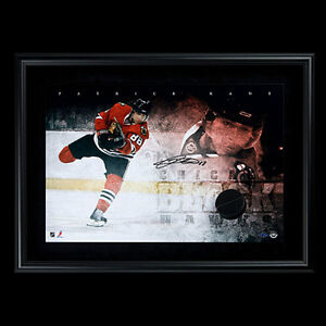 "Patrick Kane Autographed ""Breaking Through"" Frame /25 Kitchener / Waterloo Kitchener Area image 1"