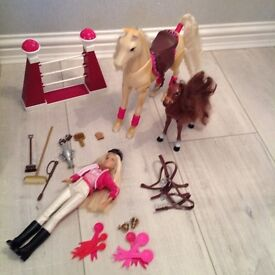 Barbie and pony set
