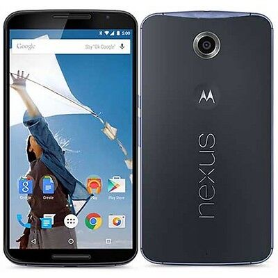 "New Unlocked Motorola Nexus 6 XT1103 32GB 5.96"" 13MP NFC 3GB RAM Smartphone Blue"