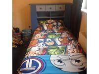 Little boys blue storage bed.
