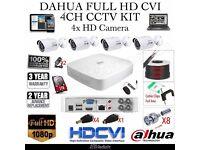 4 Camera Full CCTV Kit - DAHUA FULL HD CVI DVR 1TB HDD - 4x FULL HD Bullet Cameras